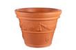 Empty orange flower pot