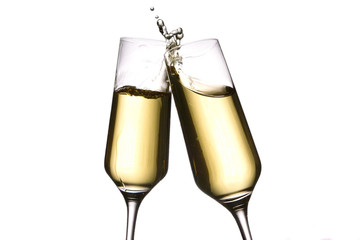cheers with champagne glasses