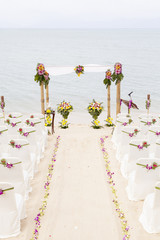 Wedding on the beach .