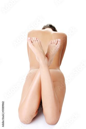 Beautiful nude fit woman body