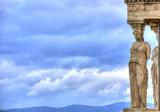 Caryatids in Erechtheum from Athenian Acropolis,Greece poster
