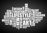 word cloud lifestyle art