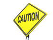 Yield Caution White Background