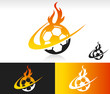 Fire Swoosh Soccer Icon