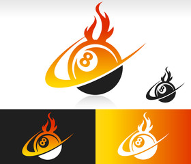 Fire Swoosh Eight Ball Icon