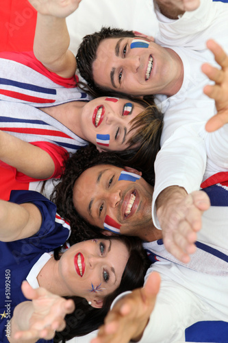 Four French fans