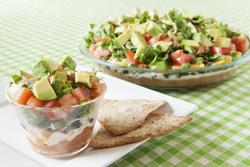Low Fat Mexican Layered Dip