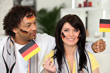 Patriotic German couple