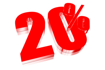 20 percent discount on three-dimensional