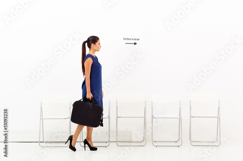 businesswoman going for job interview