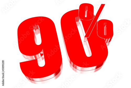 90 percent discount on three-dimensional