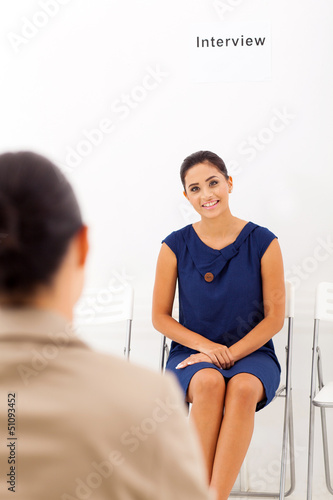 business woman doing job interview