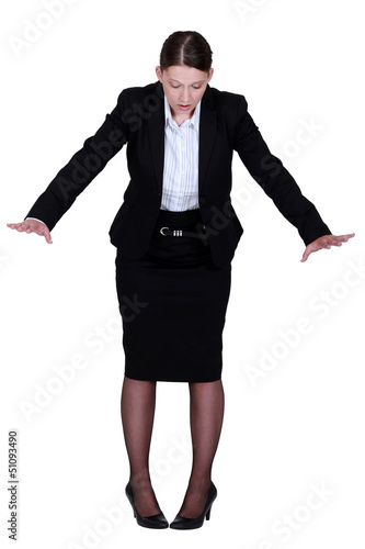 Businesswoman on the edge
