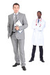 Two male doctors