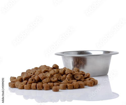 dog food isolated on white background