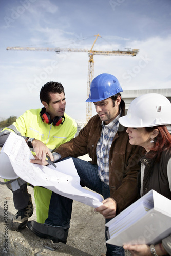 Team on construction site