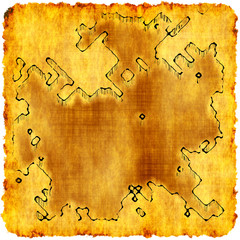 Adventurer's plan - pirate map of lost treasure