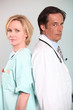 Nurse and doctor