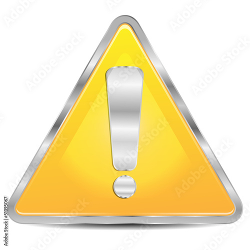 sign of danger on a white background