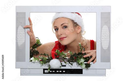 Woman dressing  in festive costume