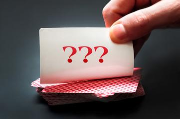 ??? on card