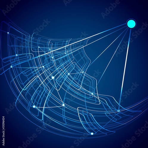 abstract satellite technology blue colorful vector