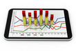Smart phone with business growth graph