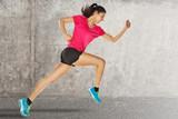 sport woman starting running