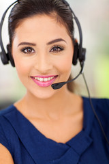 happy young call centre employee