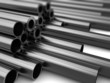 metal pipes background