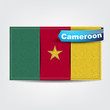 Fabric texture of the flag of Cameroon