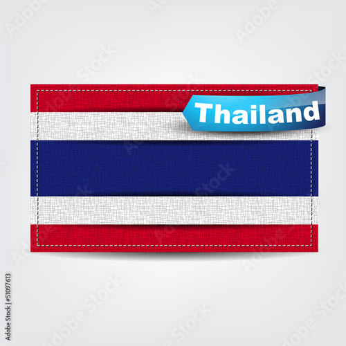 Fabric texture of the flag of Thailand