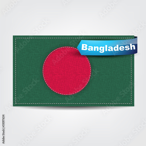 Fabric texture of the flag of Bangladesh