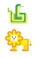 pixel animal