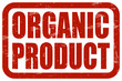 Grunge Stempel rot ORGANIC PRODUCT