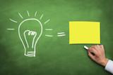 Bulb and Postits Idea concept