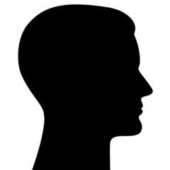Männlicher Kopf seitlich im Profil – Vektor und freigestellt