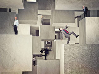 people on cubes