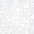 Seamless pattern of the business icons.