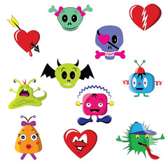 Vector cartoon characters