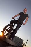 boy on bmx bike