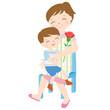 母の日 Mother's Day ハグ 抱きしめる