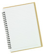 Blank notebook isolated on white