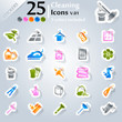 Cleaning icons set, sticker series