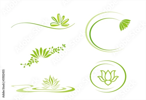 water lily , Buddha , Eco friendly business logo design