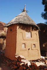 A traditional building in the Dogon village of Songo, Mali, Afri