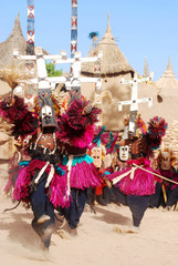 Dogon ritual dance with masks