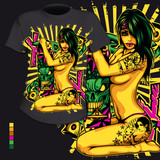 T-Shirt Druck Hip Hop