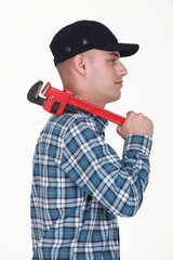 Builder carrying wrench