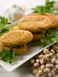 chickpeas croquettes, selective focus